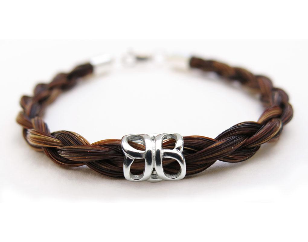 Gemosi Spirit Horse Hair Bracelet With Sterling Silver