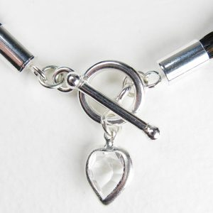 Gemosi Eternity Horse Hair Necklace with crystal heart