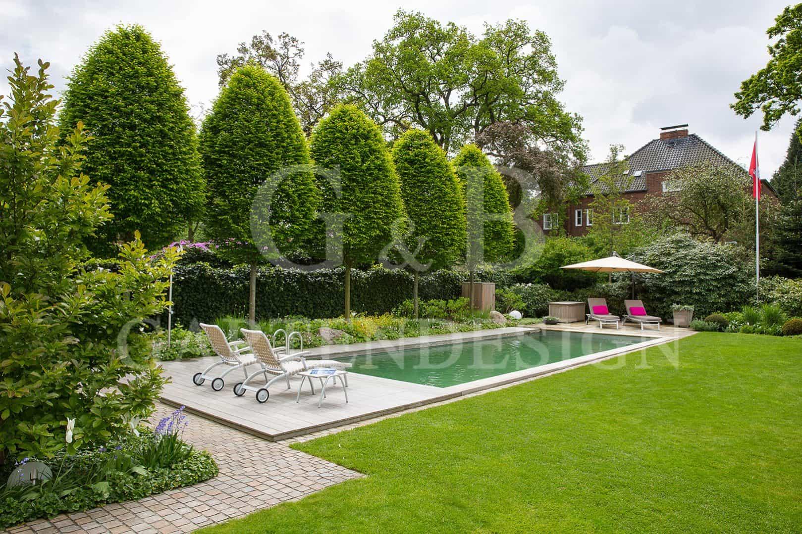 gartengestaltung reihenhaus pool garten und bauen » terrassenholz, Hause und garten