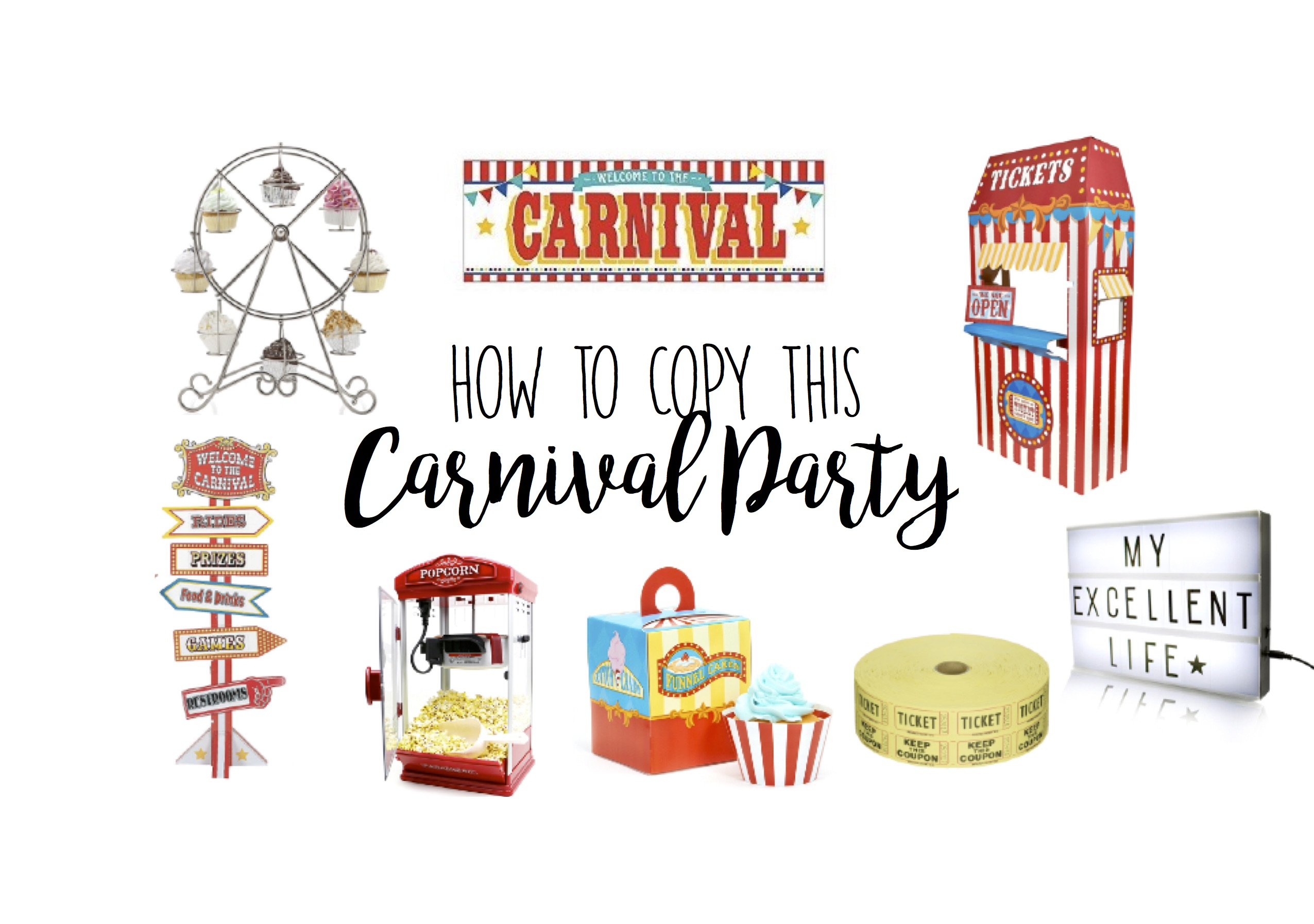 Circus Carnival Birthday Party Theme Ideas - Big Top Party Ideas