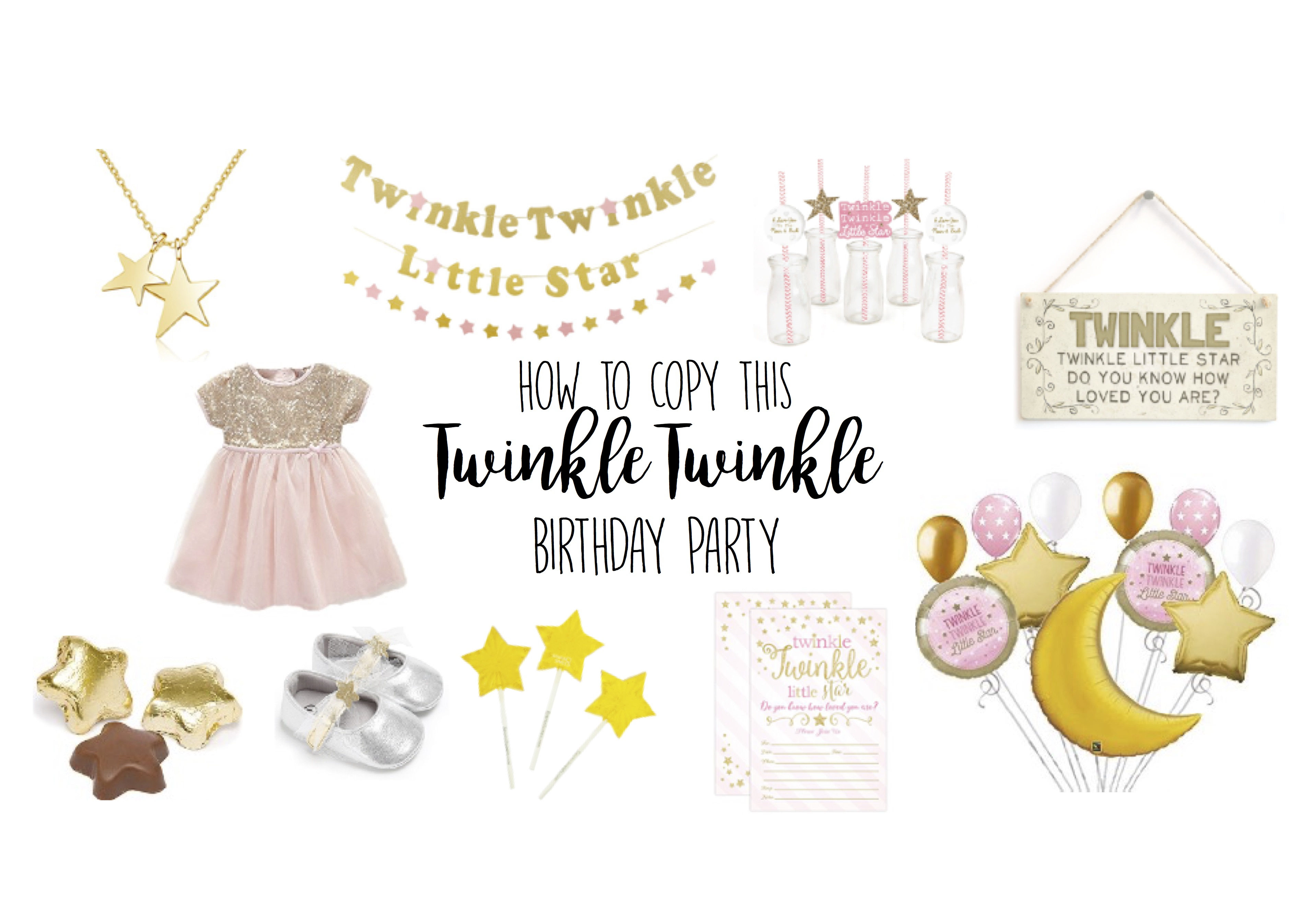 Twinkle Twinkle Little Star Birthday Party Theme Ideas for Girls