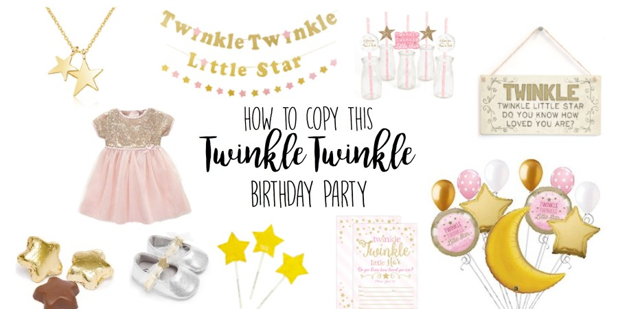 ac9e654c5 Twinkle Twinkle Little Star Birthday Party Theme Ideas for 1st Birthday,  Girl, First Birthday