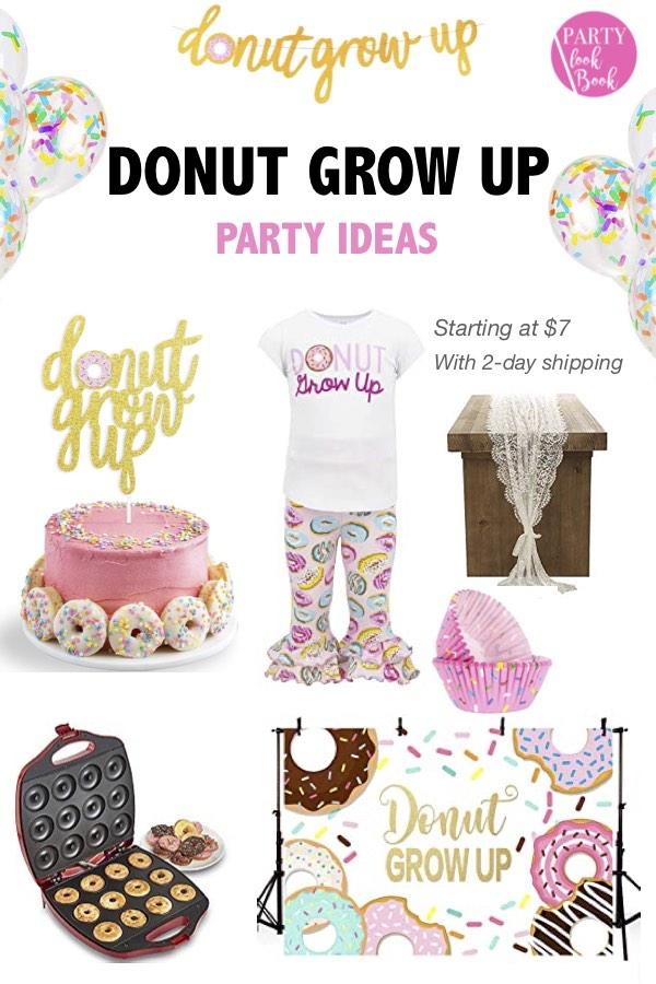 Brilliant Donut Grow Up Birthday Party Ideas Partylookbook Funny Birthday Cards Online Benoljebrpdamsfinfo