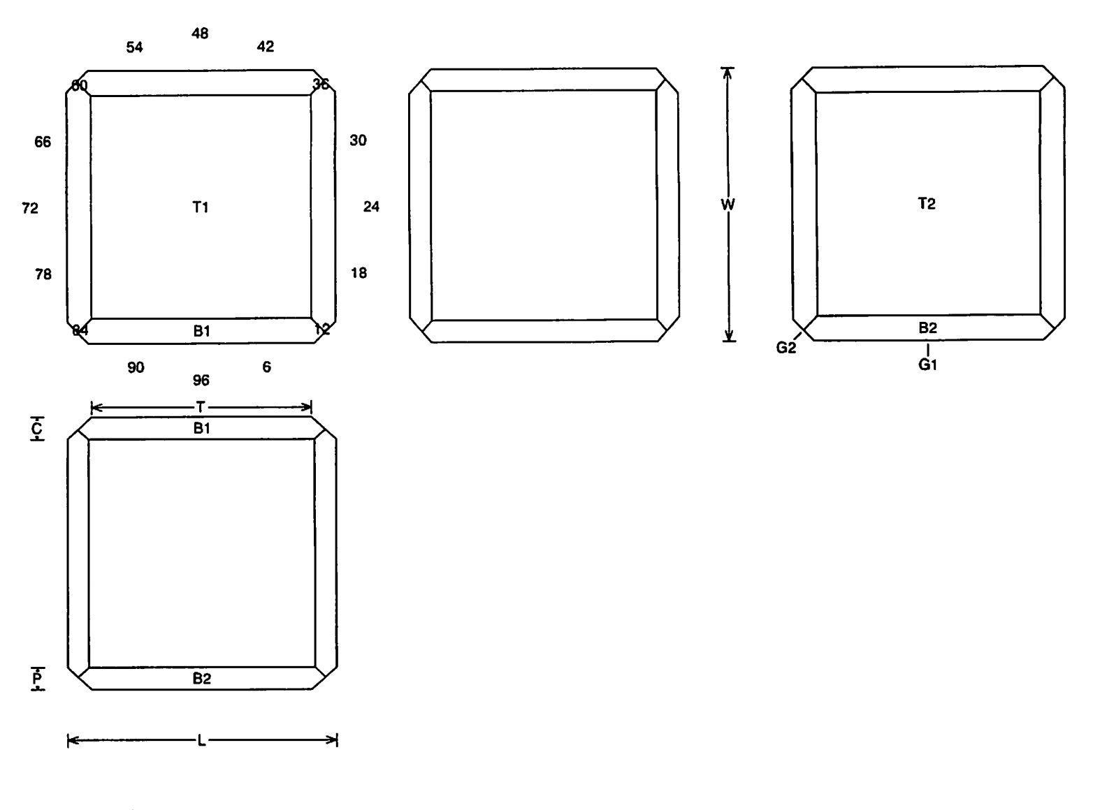Faceting Design Diagram Cubie