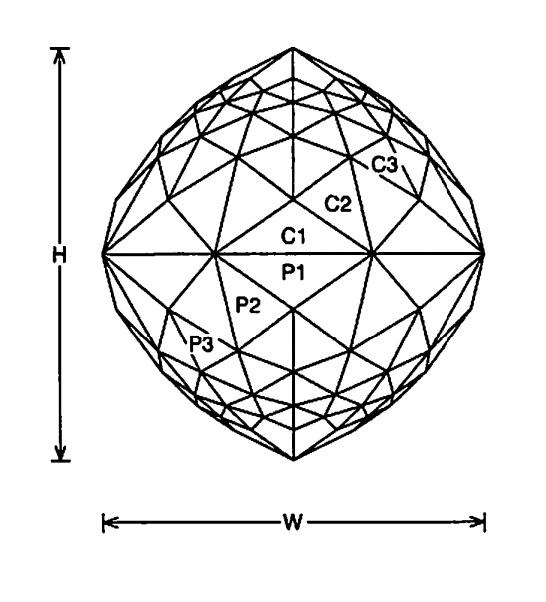 Sapphire Faceting Diagrams
