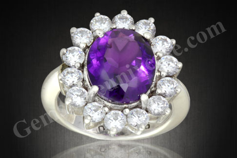 Natural Amethyst Gemstone Therapy Diamond Gem