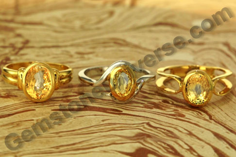 Natural Yellow Sapphire the gemstone for the Vedic astrology signs of Sagittarius and Pisces