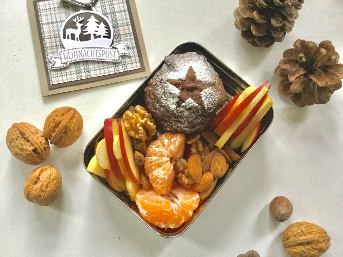 Weihnachten in der Lunchbox : vegane Weihnachts-Muffins