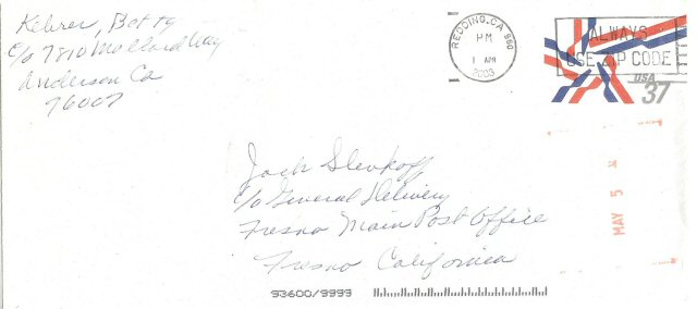 Samples of Mail Received