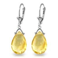 10.2 CTW 14K Solid White Gold I Ascertain Citrine Earrings ...