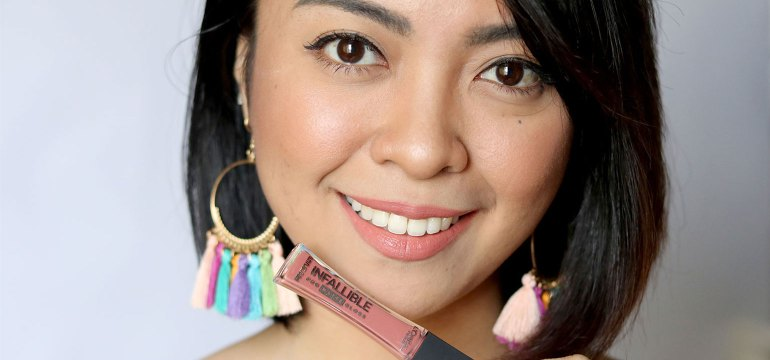 L'Oreal Infallible Pro MATTE Gloss Review Swatches Photos - Gen-zel She Sing Beauty