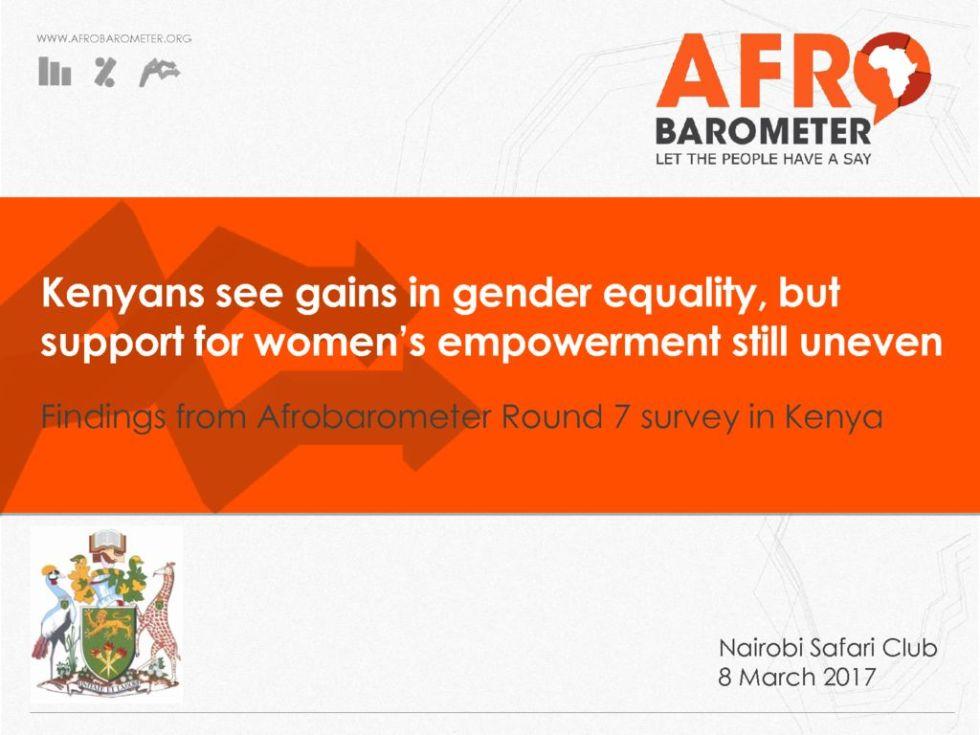 thumbnail of Afrobarometer Survey 2017 Gender