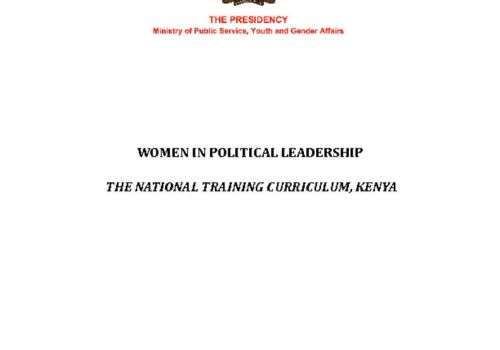 Thumbnail Of Women In Political Leadership Curriculum March 2019