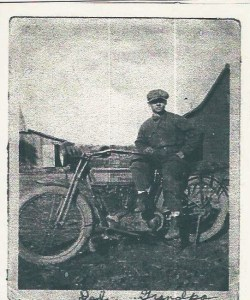 Al LaBelle poses with his Harley-Davidson