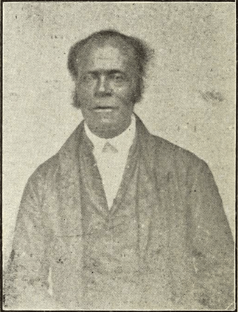 Photograph of Rev. John Baptist Snowden included in his autobiography, published in 1900 by his son.