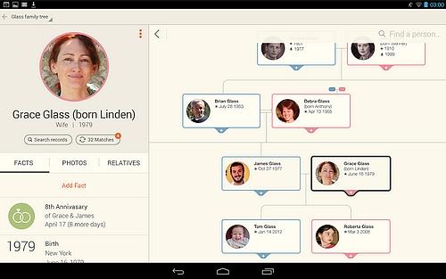 Généalogie sur Android MyHeritage