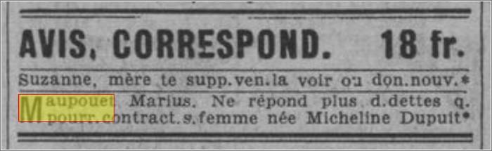 Decouvrez vos ancetres sur Retronews - Article Maupouet
