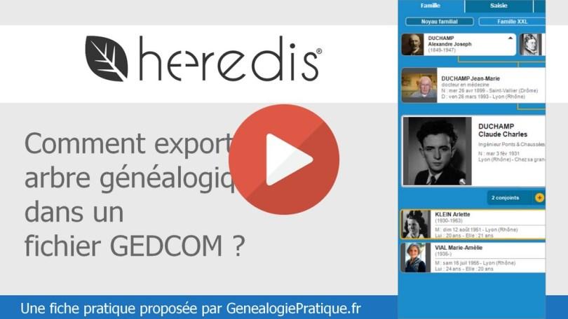 Heredis Exporter Gedcom