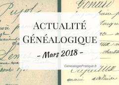 ActualitéGénéalogique Mars 2018