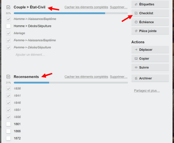 Organiser vos travaux Genealogique avec Trello _ Checklist