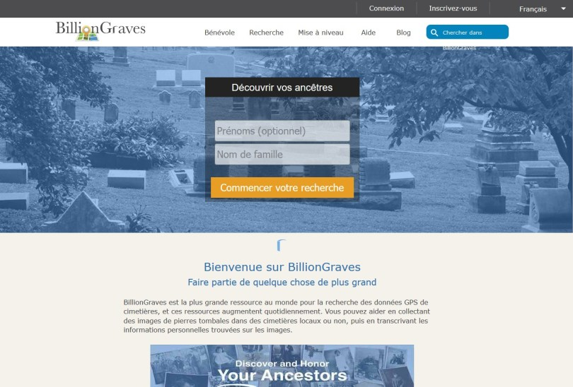 Acceuil Billiongraves