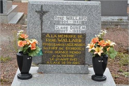 René Wallard - Sépulture