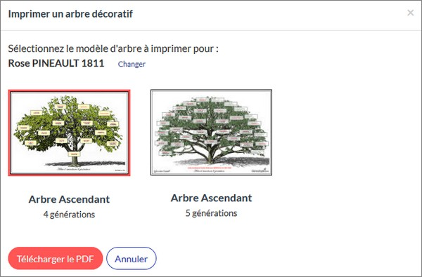 Imprimer arbre genealogique Filae - Arbre décoratif