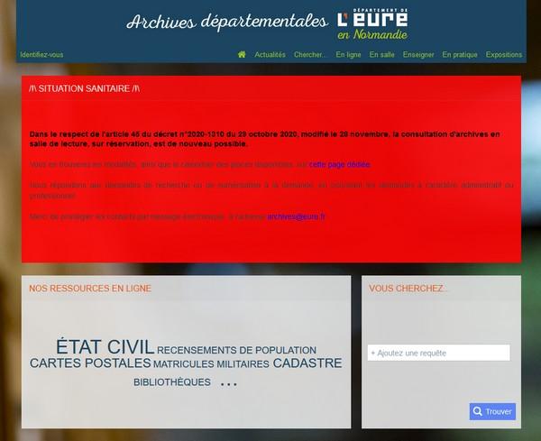Généalogie dans l'Eure 27 - Archives départementales