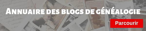 Annuaire des blogs de généalogie