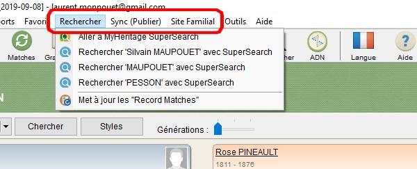 Logiciel MyHeritage - Options payantes