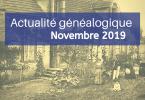 Actualité généalogique - Novembre 2019
