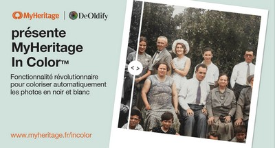 MyHeritage In Color - Annonce lancement