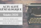 ActuGénéalogique Octobre 2020