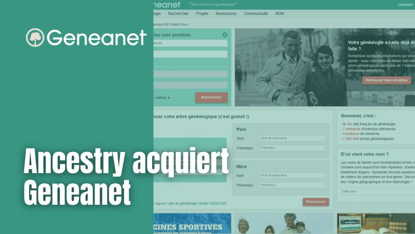 Ancestry acquiert Geneanet
