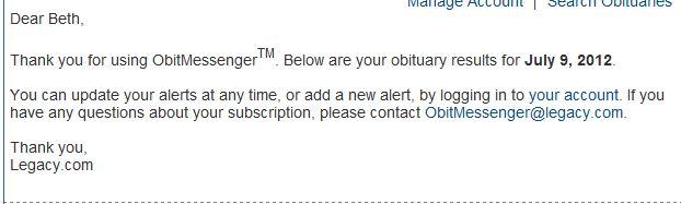 Obits Messenger