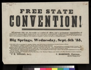 Free State Convention Poster