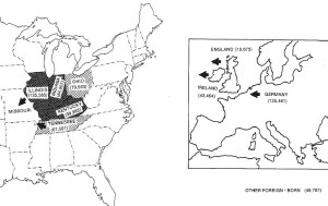 Missouri Emigraton Map 1860-1890