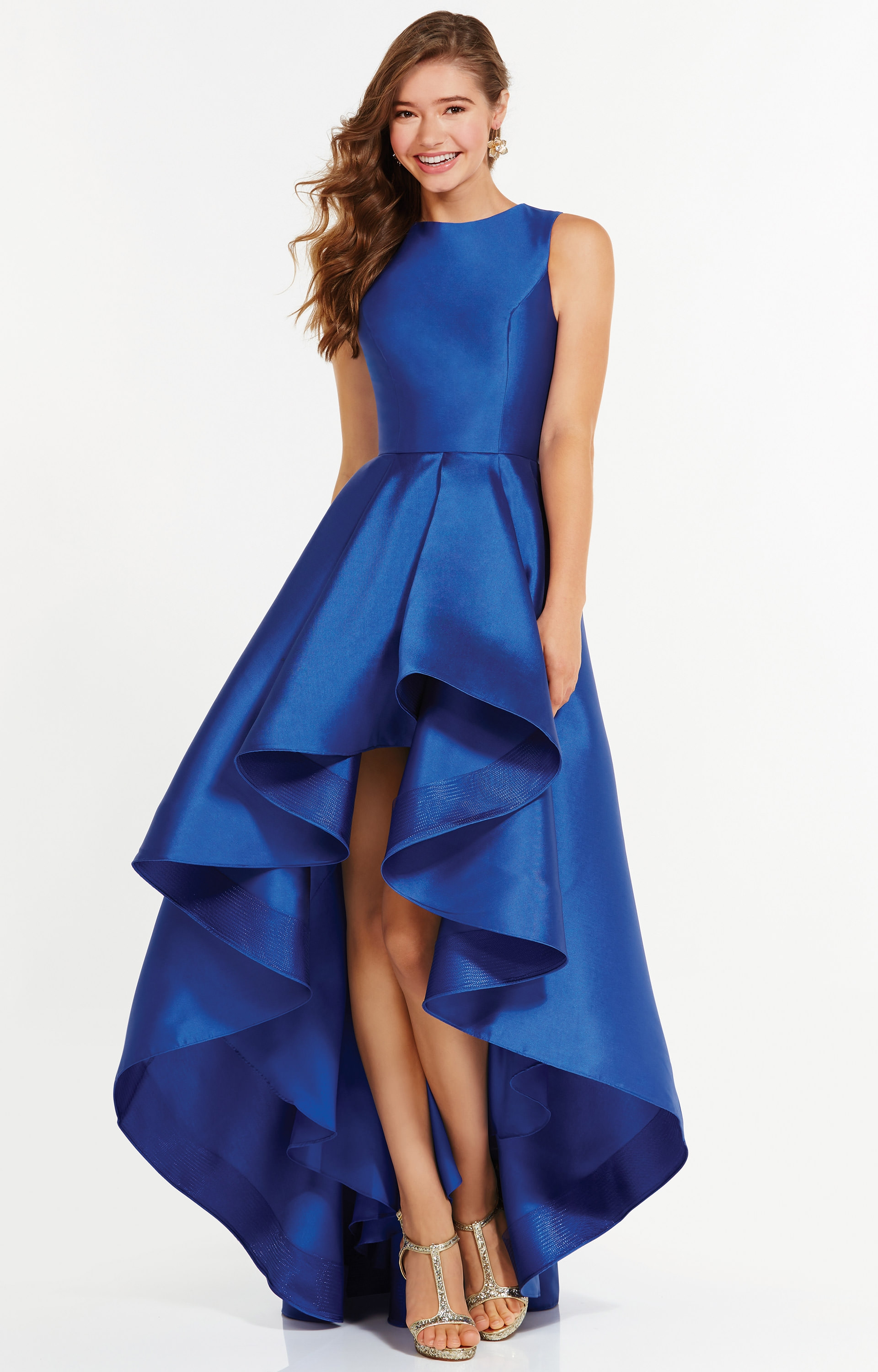 Alyce Paris 6826  Sleeveless HiLow Mikado with Ruffle Skirt Prom Dress