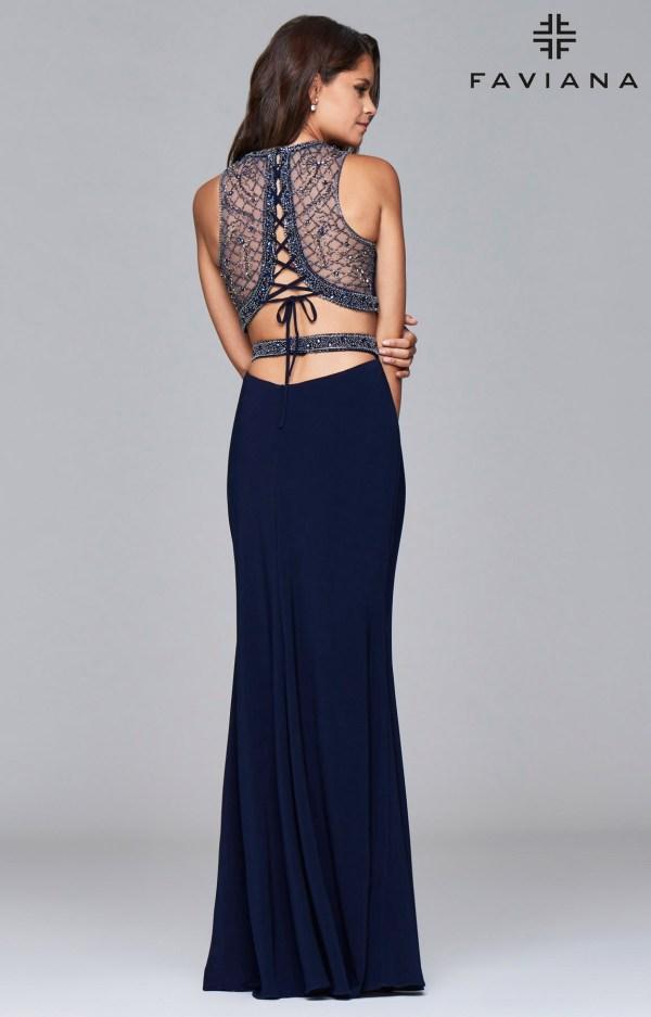 30e73a49496d Faviana S7907 Strapless Lace Corset Bodice Dress · Two Piece Corset Back  Prom Dress