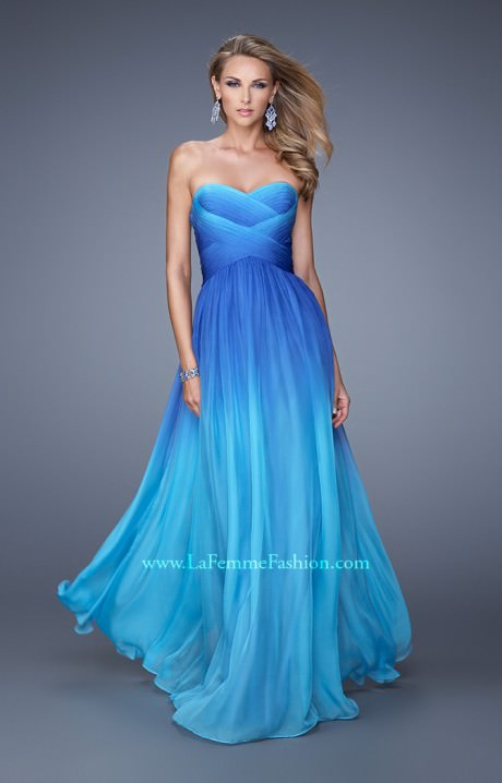 La Femme 21515  Ocean Waves Prom Dress