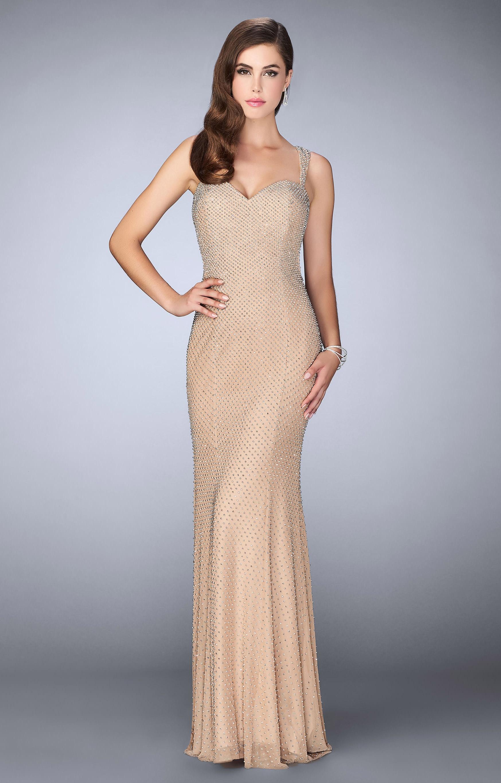 La Femme 23805  Jersey Knit Dress with Open back Prom Dress