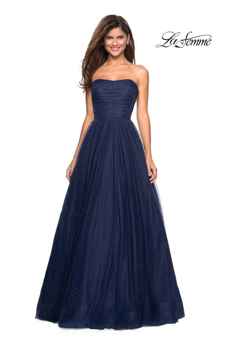 La Femme 27630 Tulle Ball Gown With Jewel Details