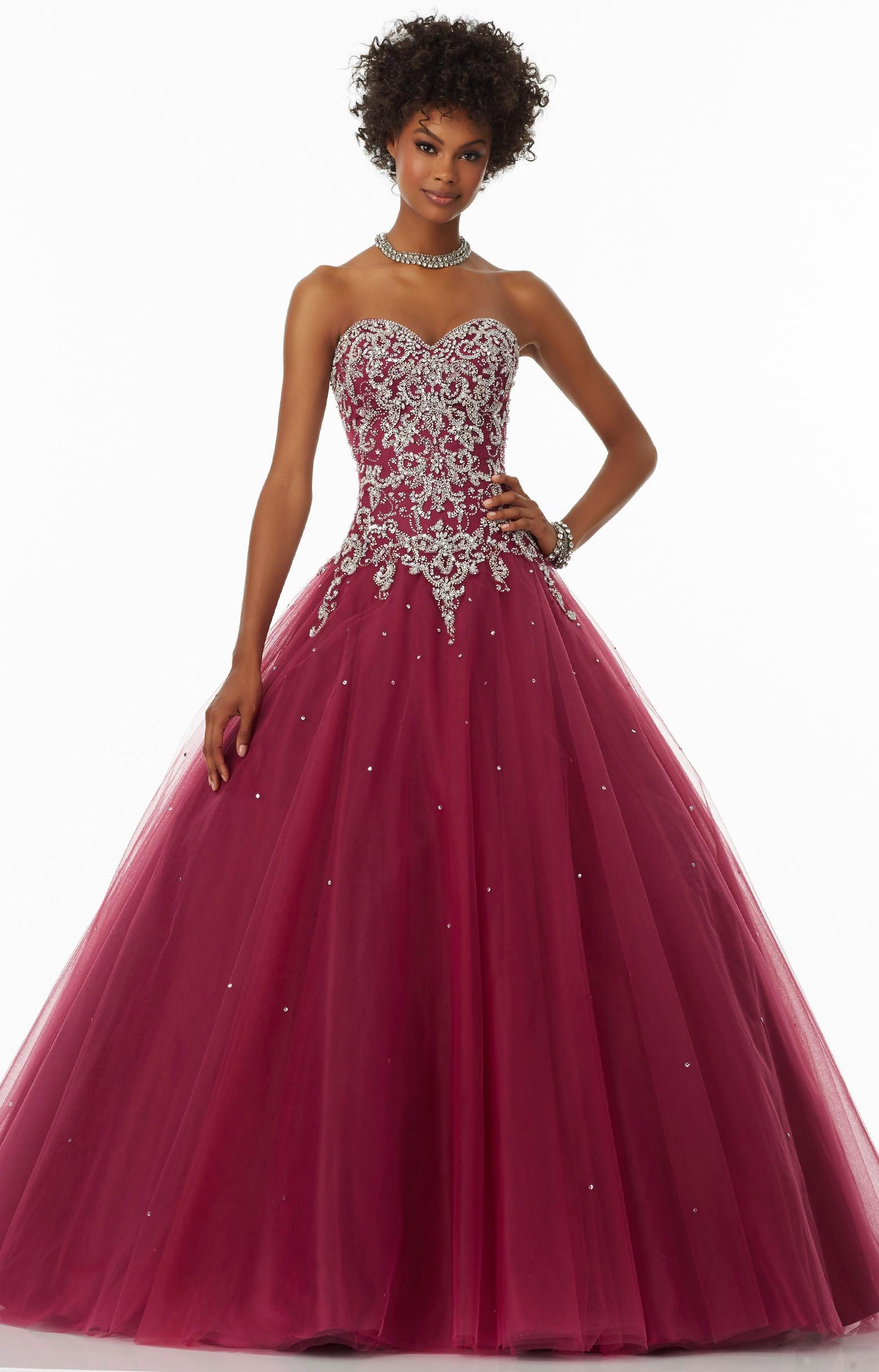 Mori Lee Prom 99054  Strapless Sweetheart Neckline Full Ball Gown Dress Prom Dress