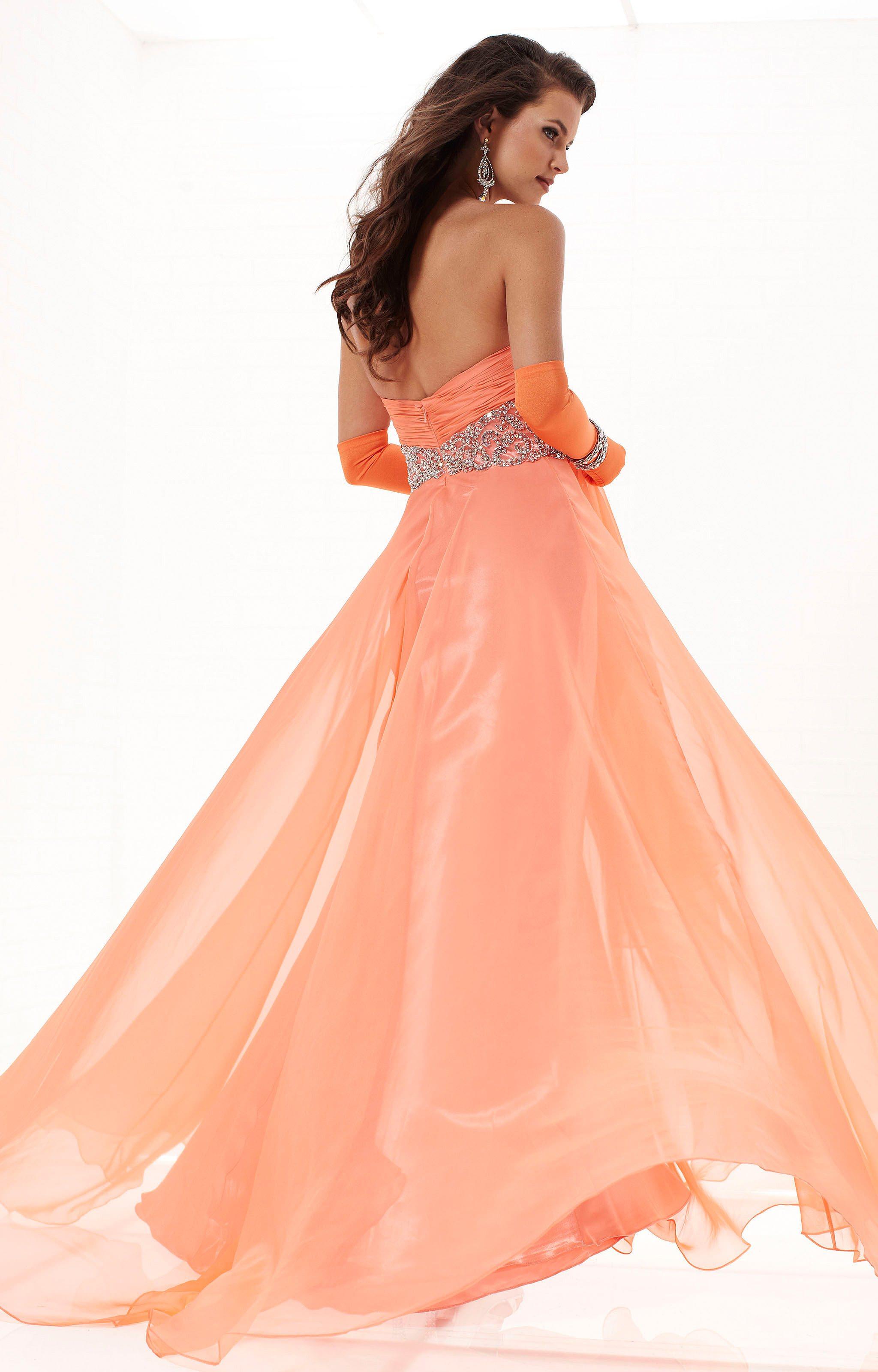Tiffany Designs 16744  Empire Waist Chiffon Dress Prom Dress