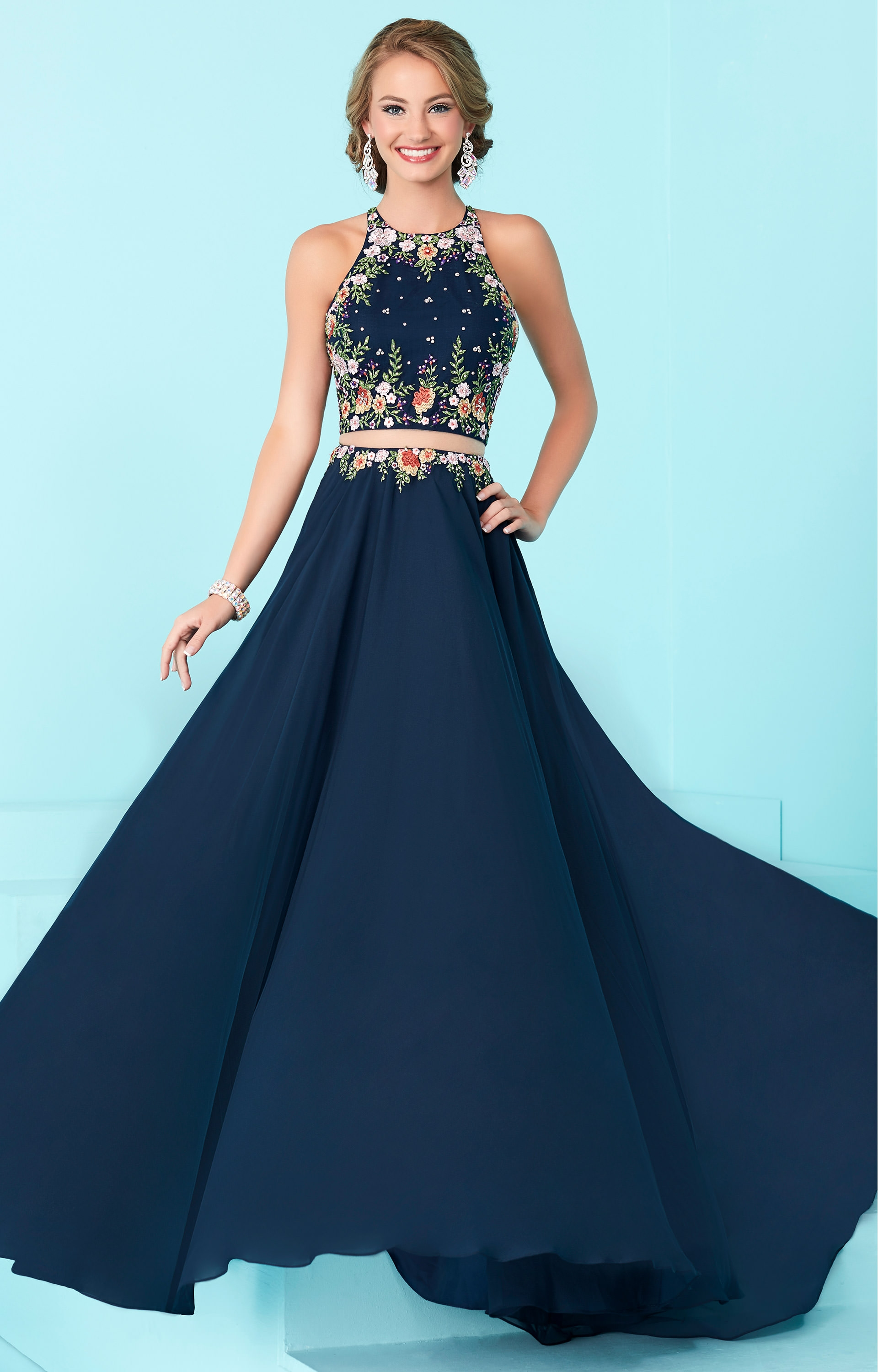 Tiffany Designs 16206  2 Piece Dress with Open Back Prom