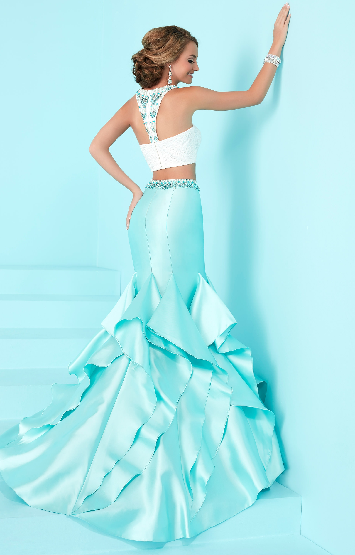Tiffany Designs 16207  2 Piece Mikado Ruffle Mermaid with
