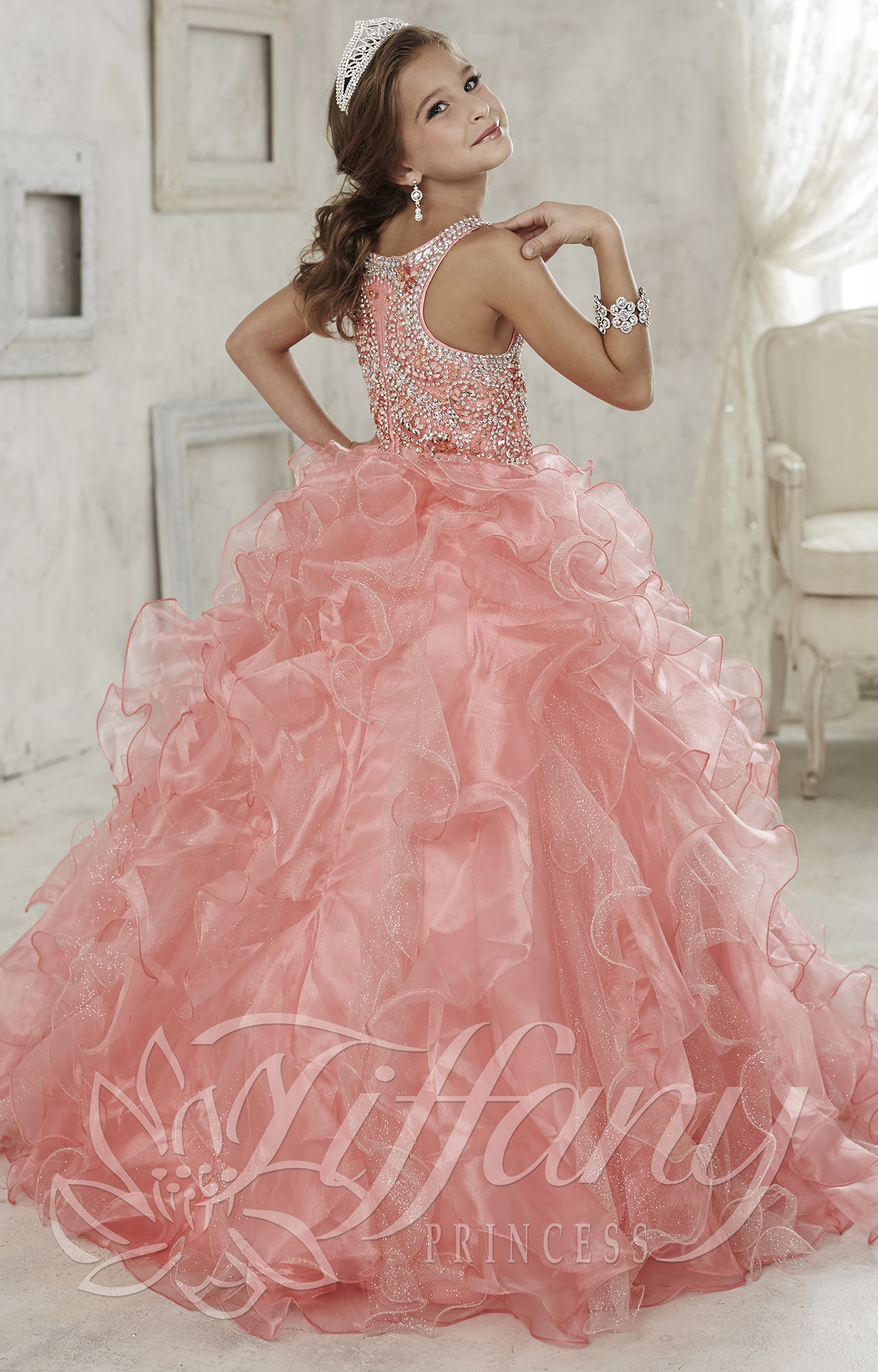 Tiffany Princess 13444  Wear the Crown Dress Prom Dress
