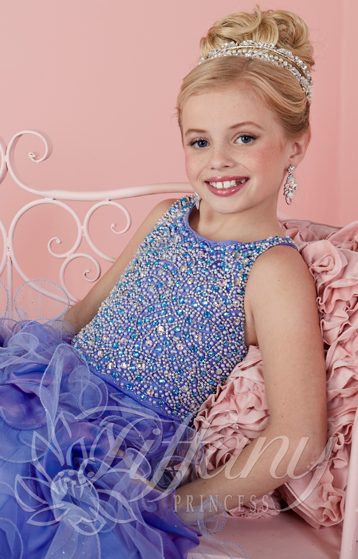 Tiffany Princess 13474 - Little Miss Sparkle Dress Prom Dress