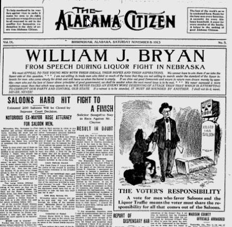 Alabama Citizen newspaper 1913