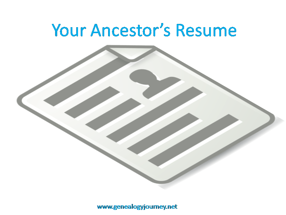 your ancestors resume